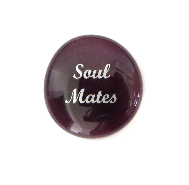 Soul Mates... Glass Stone From Lifeforce Glass