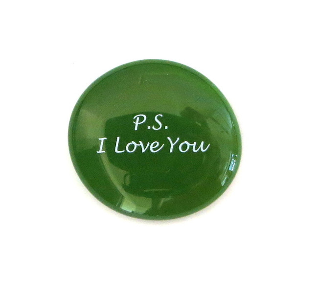 P.S. I Love You... Glass Stone From Lifeforce Glass