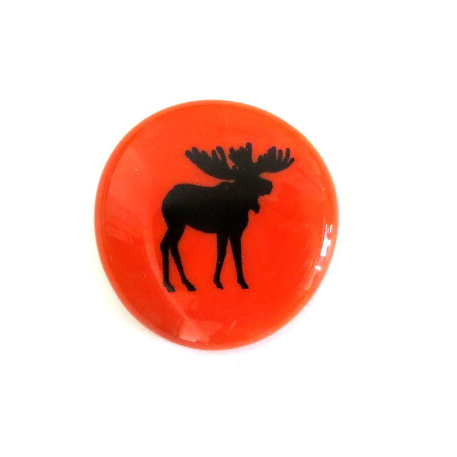 Moose... Glass Stone from Lifeforce Glass