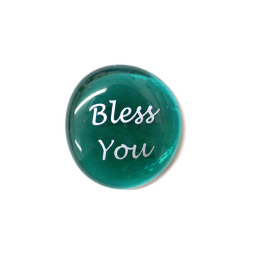 Bless You... Glass Stone From Lifeforce Glass