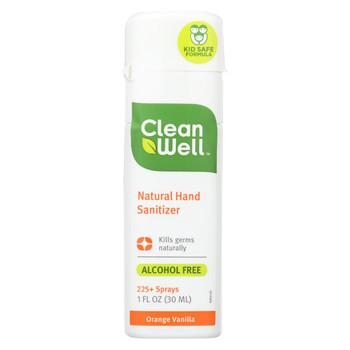 CleanWell Hand Sanitizer Display - Orange - Case of 24 - 1 oz