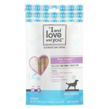 I and Love and You Free Ranger Bully Stix - Beef - Case of 6 - 5 Count