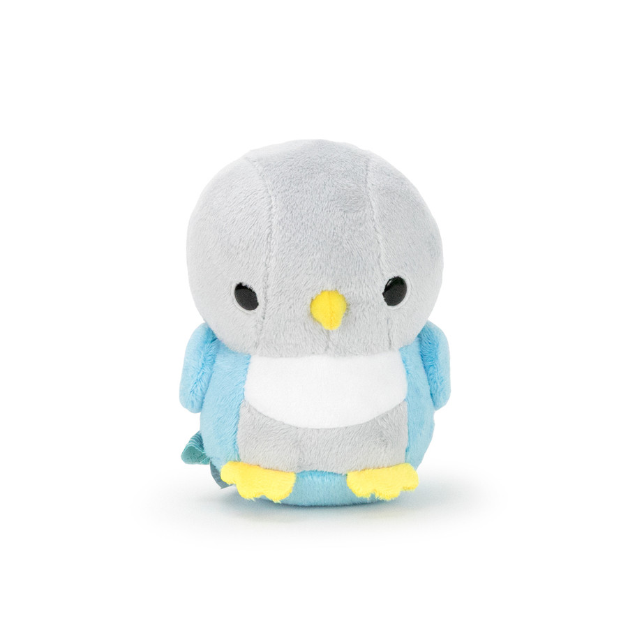 "Bellzi® Cute Gray and Blue Love Bird Stuffed Animal Plush - Lovi - 4"" Height"
