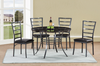 Round Faux Marble Dinning Table & Chairs