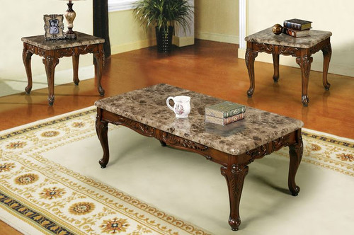 Marble Design Coffee Table 3 PC Set