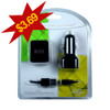 Cellular Accents 3 In 1 USB Mini Car and Home Chargers + Data Cable for iPhone 5-6-7;  Black