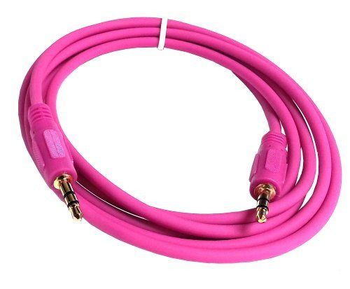 auxiliary cable 3.5mm to 3.5mm pink