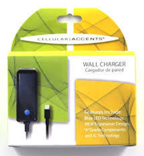 Cellular accents travel charger for galaxy tab 1 amp black