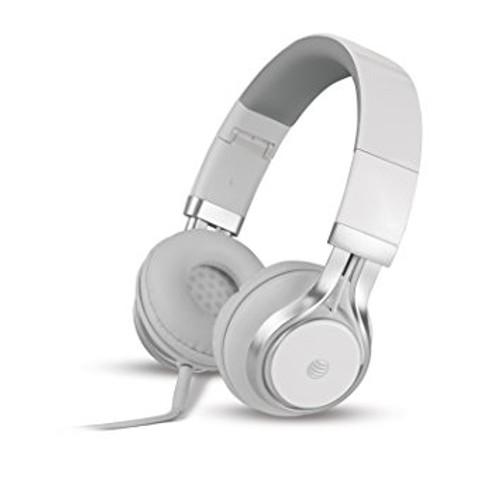 att stereo headphones with mic white