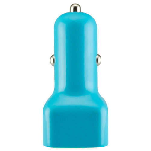 Mini usb 1 amp car charger adapter  baby blue