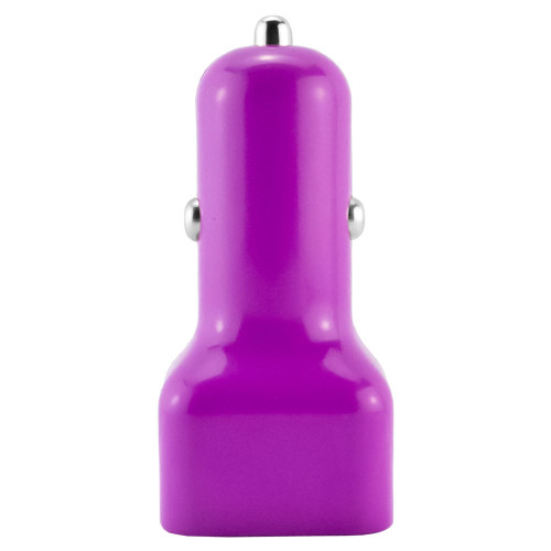 Mini usb 1 amp car charger adapter  purple