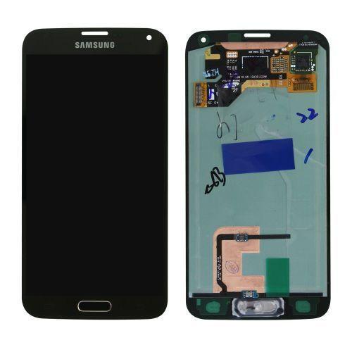 Samsung Galaxy S5 Mini G800 Lcd W/Digitizer Black/Blue