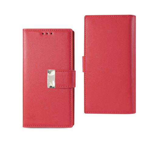 Vogue wallet for samsung galaxy j7 prime red
