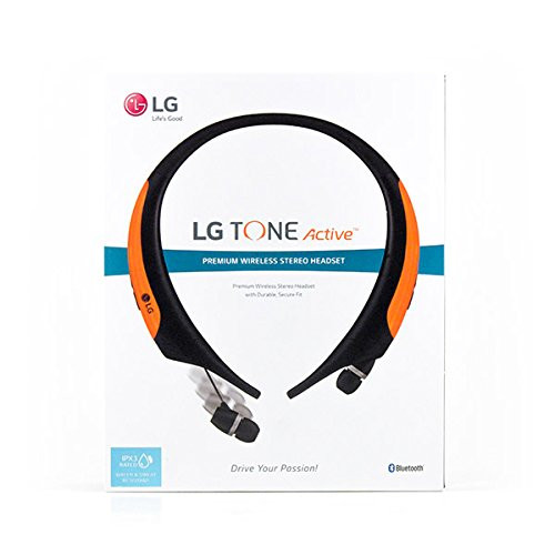 LG HBS-850-AGEUOR LG TONE ACTIVE BLUETOOTH WIRELESS STEREO HEADSET ORANGE