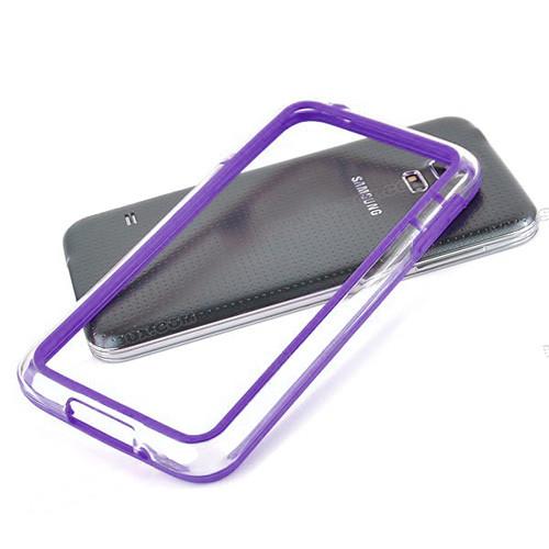 silhouette tpu bumper for iphone  5 purple-clear