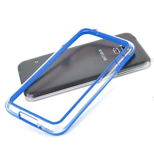 silhouette tpu bumper for iphone 5 blue-clear
