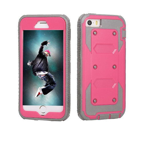 protector guard case for iphone 6 hot pink-gray