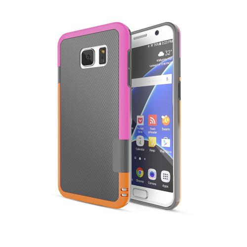 stylish tpu case for iphone 6 gray-hot pink-orange