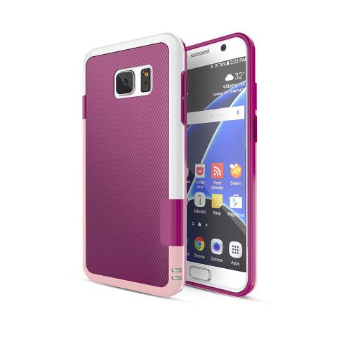 stylish tpu case for iphone 6 burgubdy-pink-white