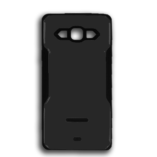 rigid tpu case with plate for iphone 7/8 black-black