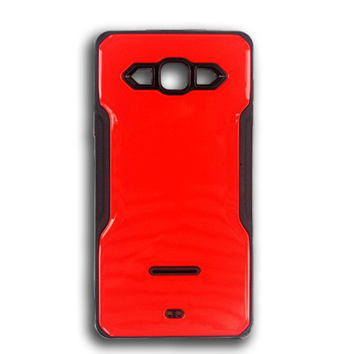 rigid tpu case with plate for iphone 7/8 plus red-black