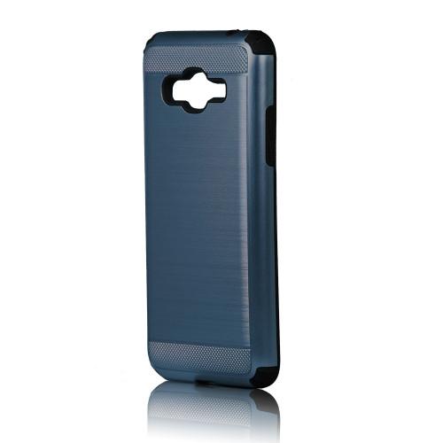 hard pod hybrid case for samsung galaxy j1 mini storm blue-black