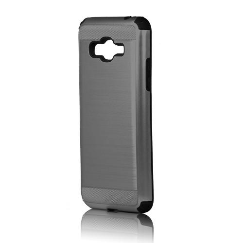 hard pod hybrid case for samsung galaxy j7 prime titanium-black
