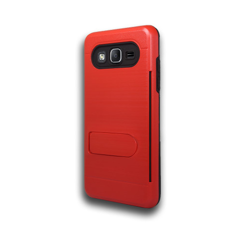 ID Ultrathin Hybrid Case with Kickstand for Samsung Galaxy ON5 G550 Red
