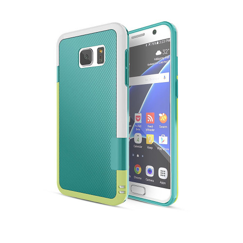 stylish tpu case for samsung galaxy s5 aqua-white-green