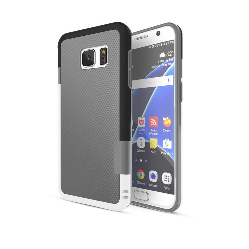 stylish tpu case for samsung galaxy s5 gray-black-white