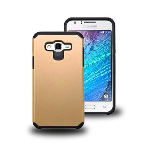 thin shell hybrid case for samsung galaxy s6 edge plus gold-black