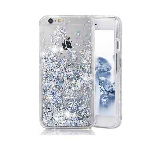 Liquid Glitter TPU Case for Samsung Galaxy S7 Edge Silver