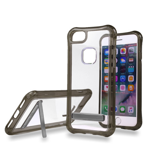 Mado Skin Case with Kickstand for iPhone 7/8 Clear-Black