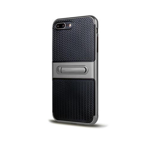 Traveler Hybrid Case with Kickstand for iPhone 5   SE Titanium
