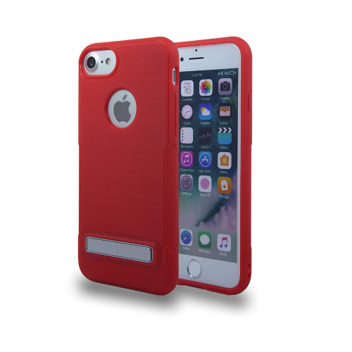Noskid Skin Case with Kickstand for Samsung A7 (2017) Red