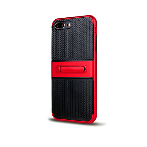 Traveler Hybrid Case with Kickstand for Samsung J5 Red