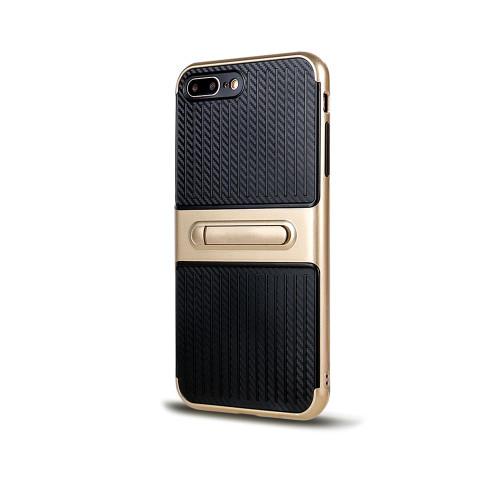 Traveler Hybrid Case with Kickstand for Samsung J7 Gold