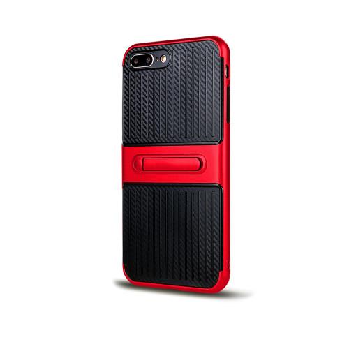 Traveler Hybrid Case with Kickstand for Samsung J7 Red