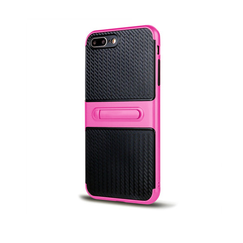 Traveler Hybrid Case with Kickstand for Samsung J7 Hot Pink