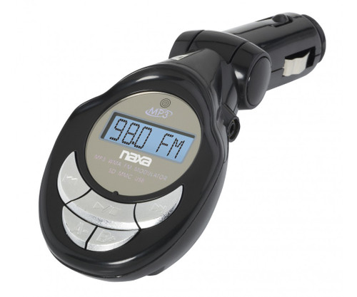 Naxa MP3/WMA FM Modulator/Transmitter with LCD screen USB and SD input