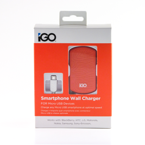 iGO Smartphone wall charger orange