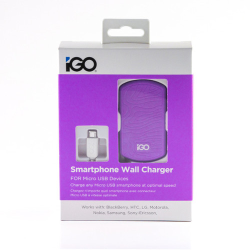 iGO Smartphone wall charger purple