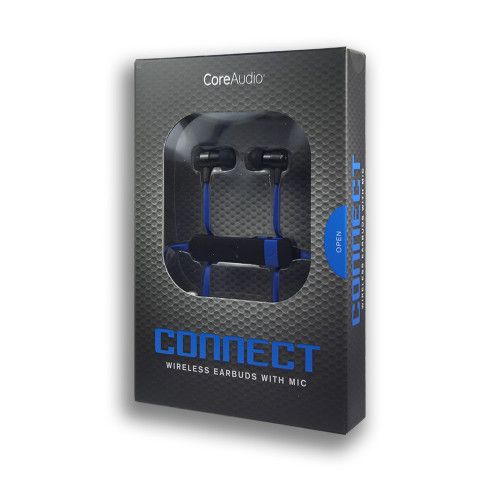 CoreAudio Connect Wireless Earbuds with Mic Blue