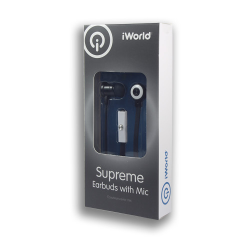iWorld Supreme Earbuds with Mic White
