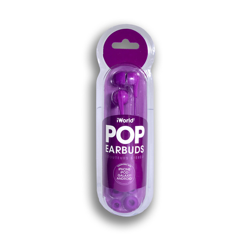 iWorld POP Earbuds Purple