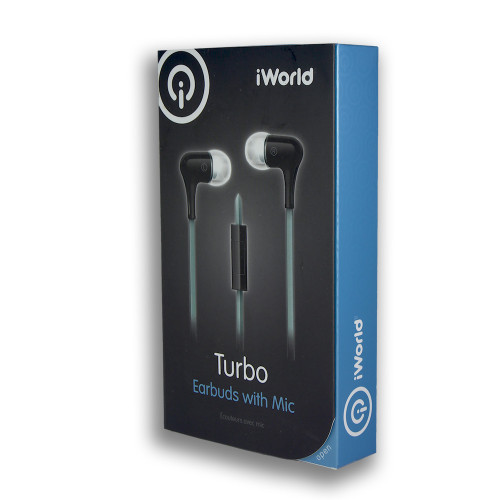 iWorld Turbo Earbuds with Mic Black