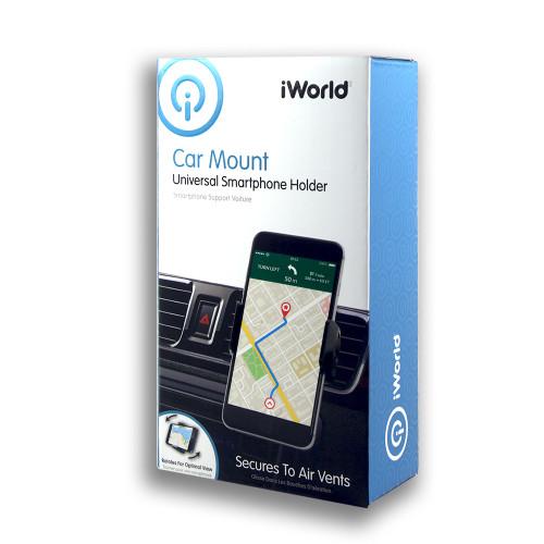 iWorld Car Mount Universal Air Vents Smartphone Holder