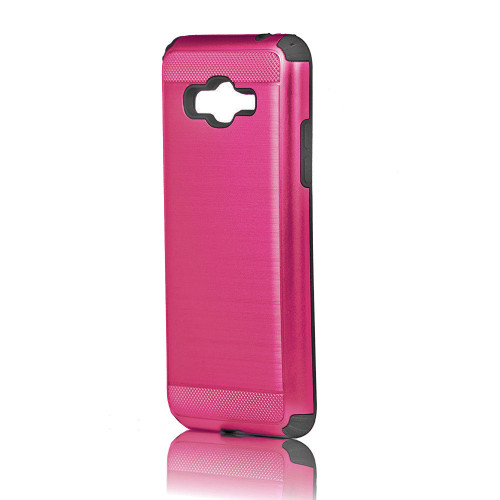 Hard Pod Hybrid Case for Samsung Galaxy J1 Ace Hot Pink-Black