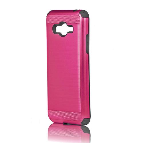 Hard Pod Hybrid Case for Samsung Galaxy J3 Prime Hot Pink-Black