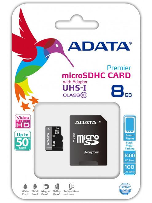 ADATA Class 4 8GB w/adapter